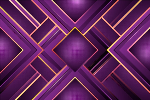 Gradient purple shapes on dark background