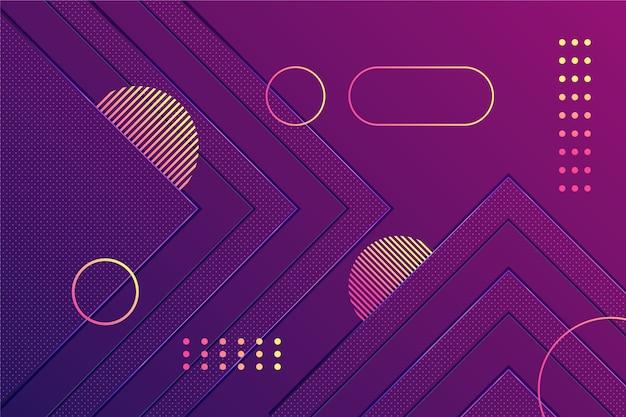 暗い壁紙にグラデーションの紫色の図形
