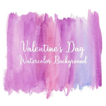 バレンタインデーのグラデーション紫の水彩テクスチャ