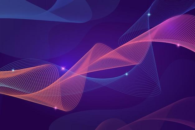 Gradient purple waves background