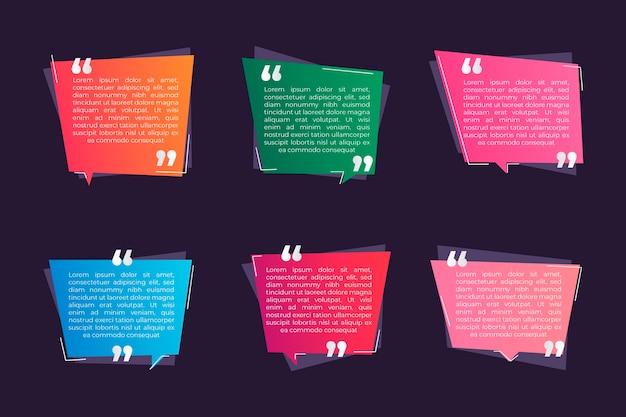 グラデーション引用ボックスフレームコレクション