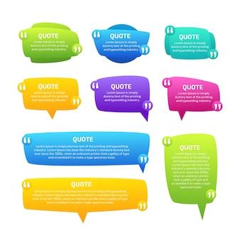 Коллекция рамок для градиентных цитат