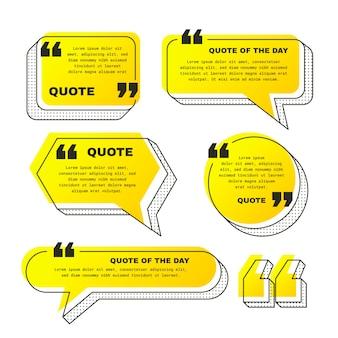 Набор рамок для градиентных цитат