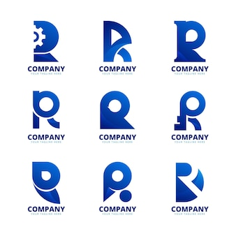 グラデーションrロゴコレクション