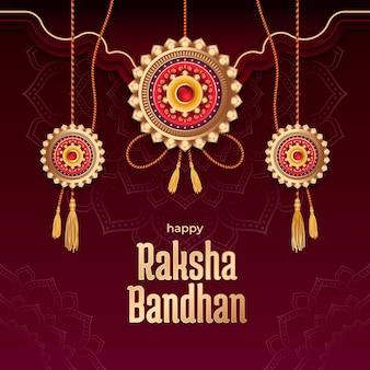 Gradient raksha bandhan illustration