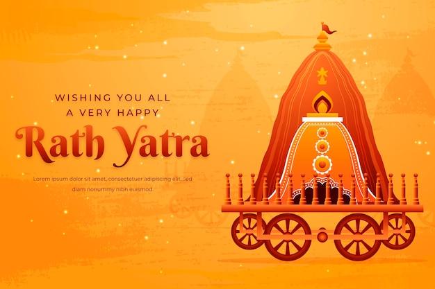 Illustrazione di rath yatra gradiente
