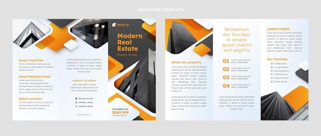 Gradient real estate brochure template