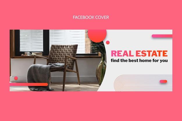 Gradiente copertina facebook immobiliare Vettore gratuito