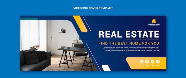 Gradient real estate facebook cover