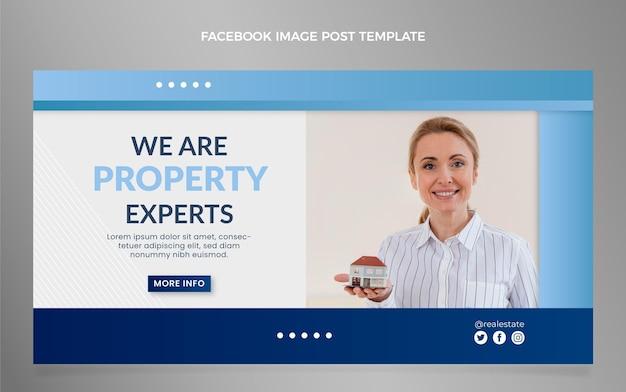 Gradient real estate facebook post