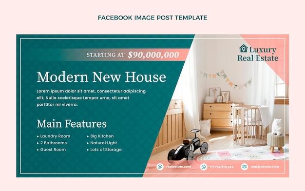 Пост на facebook о градиентной недвижимости