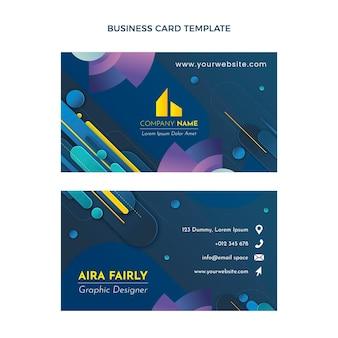 Gradient real estate horizontal business card