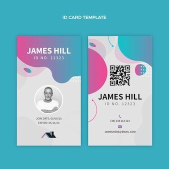 Gradient real estate id card