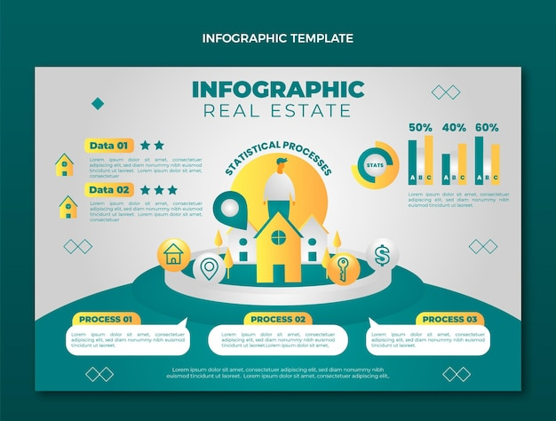 Infografica immobiliare sfumata