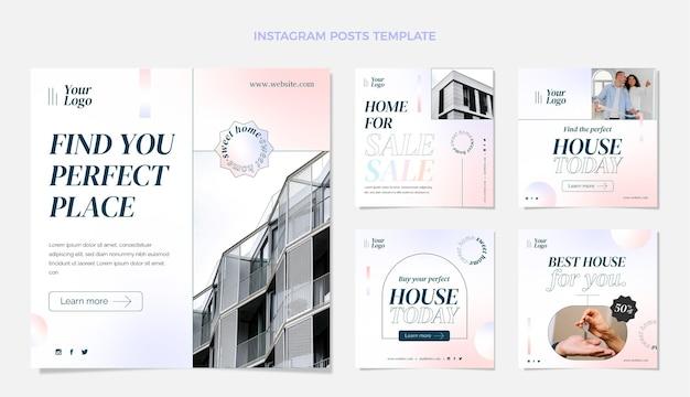 Пост в instagram с градиентом недвижимости