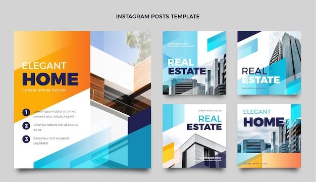 Gradient real estate instagram post