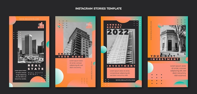 Storie di instagram immobiliari sfumate