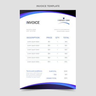 Gradient real estate invoice template