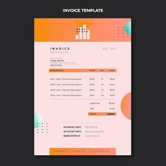 Gradient real estate invoice