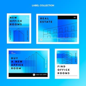 Etichette immobiliari sfumate