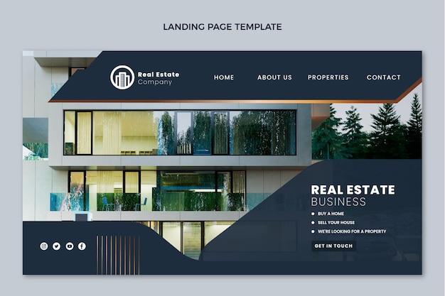 Modello di pagina di destinazione immobiliare gradiente