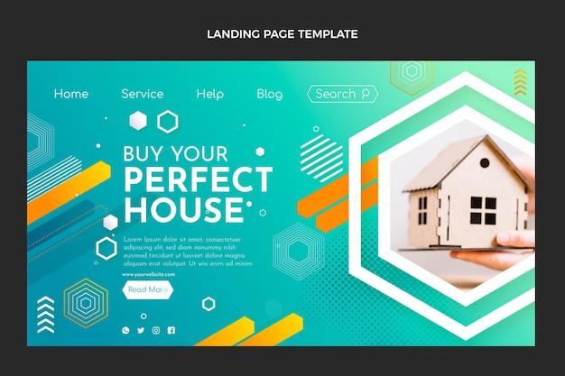 Gradient real estate landing page