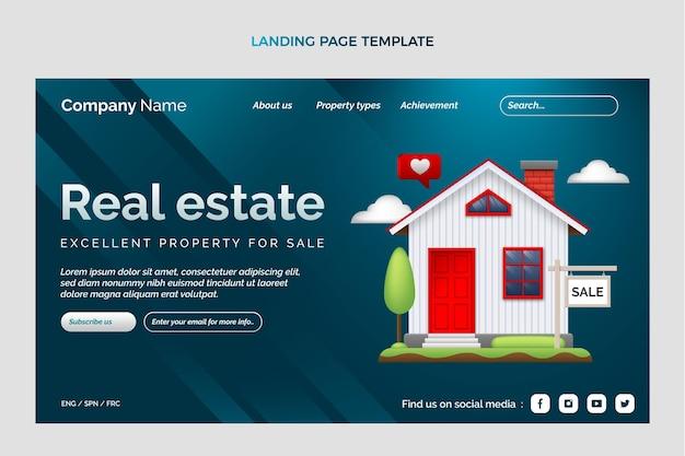 Pagina di destinazione immobiliare sfumata