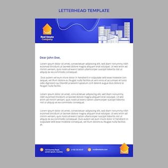 Gradient real estate letterhead