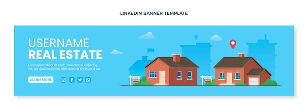 Gradient real estate linkedin banner