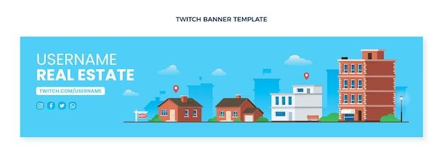 Gradient real estate twitch banner