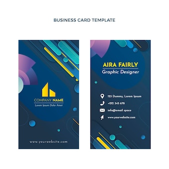 Gradient real estate vertical business card