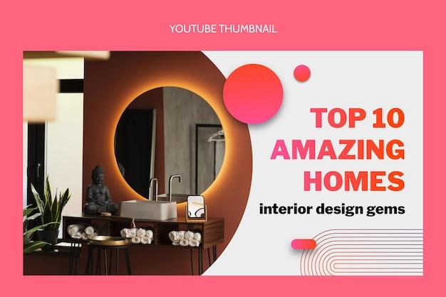 Gradient real estate youtube thumbnail
