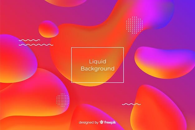 Gradient realistic fluid background