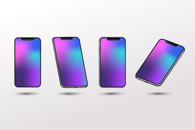 Gradient realistic template of smartphone for design