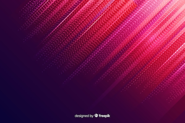 Gradient red particles background