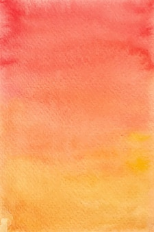 Gradient red and yellow watercolor background