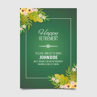 Gradient retirement greeting card