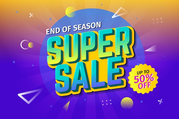 Gradient retro super sale background