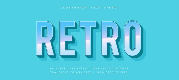 Эффект шрифта в стиле ретро с градиентом