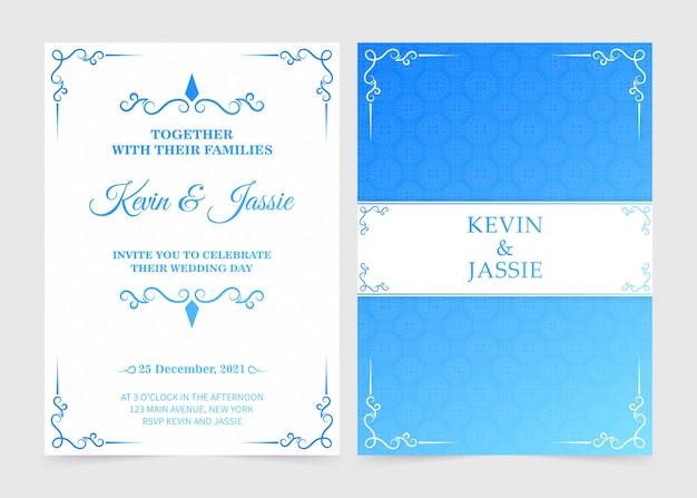 Gradient retro wedding invitation template