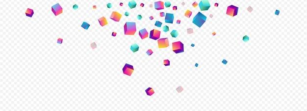 그라데이션 마름모 파노라마 투명 배경. 홀로그램 3d 박스 브로셔.