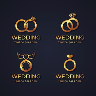 Gradient ring logo template collection