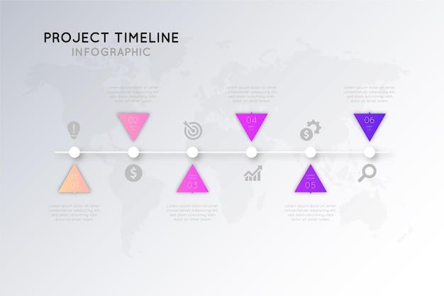 Modello di infografica tabella di marcia gradiente