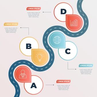 Gradient roadmap infographic