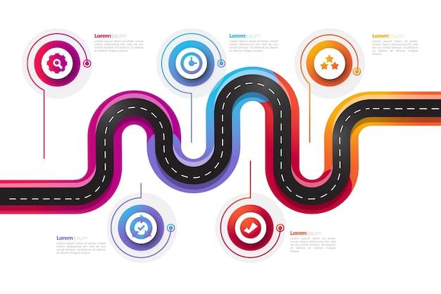 グラデーションロードマップのインフォグラフィック