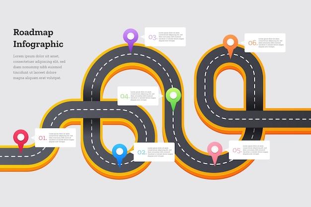 Градиентная дорожная карта инфографики