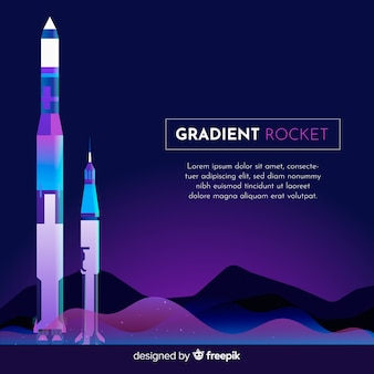 Gradient rocket background template