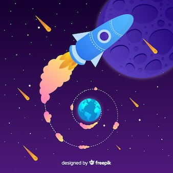 Gradient rocket background