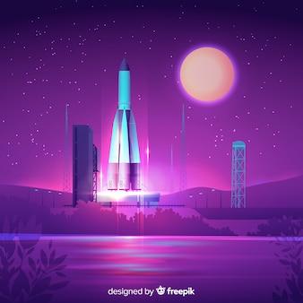 Градиентный фон ракеты
