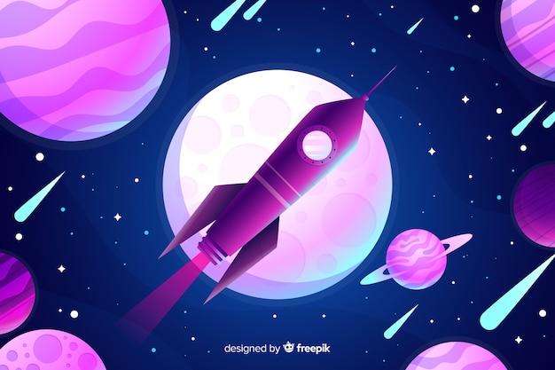 Gradient rocket background